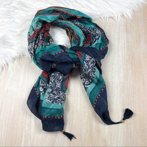 Lucky Brand Light Weight Blue Scarf